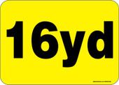 """5 x 7"""" 16 Yard Roll-Off Container Decal"""