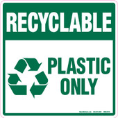"6 x 6"" Recyclable Plastic Only Decal"