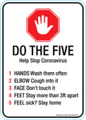 "5 x 7"" Do The Five, Help Stop Coronavirus"