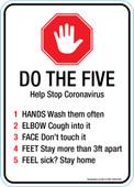 "5 x 7"" Do The Five, Help Stop Coronavirus"