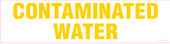 "4 x 16"" Contaminated Water Decal"