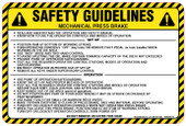 "6 x 9"" Safety Guidelines Mechanical Press Brake Decal"