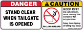 "5 X 14"" Danger Stand Clear, Caution Falling Hazard Decal"