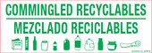 "3 x 8.5"" Commingled Recyclables Bilingual Decal"