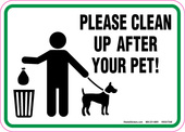 "5"" x 7"" Please Clean Up After Your Pet! Decal."