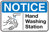"8 x 12"" Notice Hand Washing Station Decal"