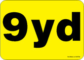 "5 x 7"" 9 Yard Rear Load Container Decal"