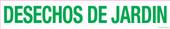 "3 x 18"" Desechos De Jardin (Garden Debris) Decal"