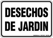 "5X7"" Desechos De Jardin (Garden Debris) Decal"