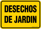"5 x 7"" Desechos De Jardin (Garden Debris) Decal Yellow"