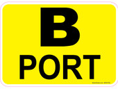"5 x 7"" B Port Decal"