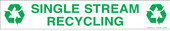 """3 x 18"""" Single Stream Recycling Decal Version 2"""