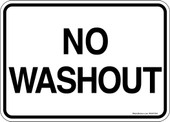 5 x 7 NO Washout Decal