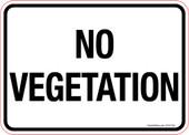 5 x 7 No Vegetation Decal