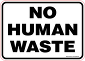 5 x 7 No Human Waste Decal