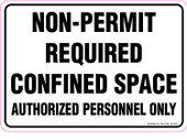 """7 x 10"""" Non-Permit Required Confined Space, Decal"""