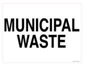"""9 x 12"""" Municipal Waste Decal. Municipal Waste Recycling Sticker."""