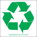 """2 x 2"""" Small Recycling Stickers"""