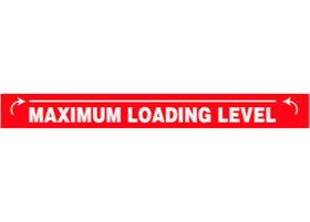 Maximum Loading Level Decal