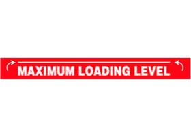Maximum Loading Level Decal