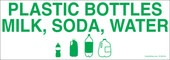 "3 x 8.5"" Plastic Bottles Milk, Soda, Water"