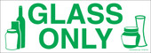 """3 x 8.5"""" Glass Only Recycle Sticker"""