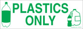 "3 x 8.5"" Plastics Only Recycle Sticker Decal"