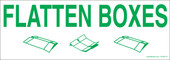 "3 x 8.5"" Flatten Boxes Recycling Decal"
