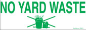 "3 x 8.5"" No Yard Waste Decal"