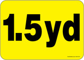 """5 x 7"""" 1.5 Yard Container Decal"""