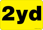 """5 x 7"""" 2 Yard Container Decal"""