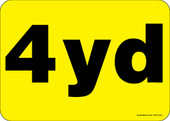 """5 x 7"""" 4 Yard Container Decal"""