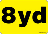 """5 x 7"""" 8 Yard Rear Load Container Decal"""