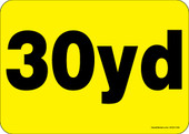 """5 x 7"""" 30 Yard Roll-Off Container Decal"""