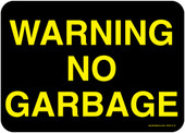 "5 x 7"" Warning No Garbage Decal"