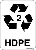 "5 x 7"" HDPE Recycling Container Sticker Decal"