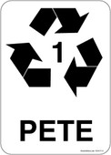 "5 x 7"" PETE Recycling Container Sticker Decal"