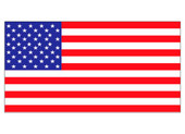 "6 x 11"" USA Flag Decal United States Flag Decal"