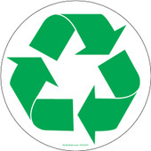 """6"""" Circle Recycling Decals"""