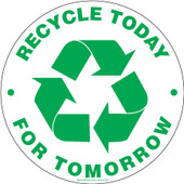 """6"""" Circle Recycling Stickers"""