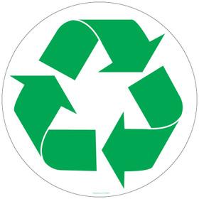 8 Inch Recycling Logo Sticker