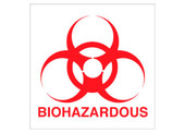 "8 x 8"" Biohazardous Sticker Decal"