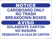 """9 x 12"""" Cardboard Only No Trash Breakdown Boxes Decal"""