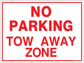 "9 x 12"" No Parking. Towaway Zone. Decal / Sticker"