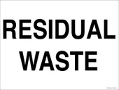 "9 x 12"" Residual Waste Decal"