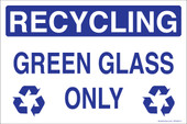 "5 x 8"" Recycling Green Glass Only Sticker Decal"