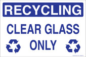 "5 x 8"" Recycling Clear Glass Only Sticker Decal"