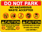 """9 x 12"""" Do Not Park Multi Message Container Decal"""