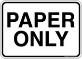 "5 x 7"" Paper Only Sticker Decal"
