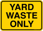 "5 x 7"" Yard Waste Only Sticker Decal"